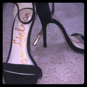 Black suede Sam Edelman stilettos / heels